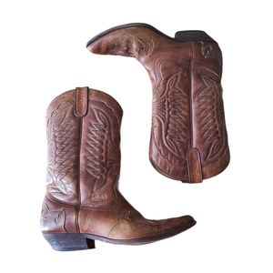Vintage SANCHO Cowboy Boots Brown Size 41